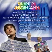 Quentin Mosimann recommence à s'exhiber en plein Paris !