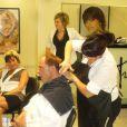 Freddy se fait foncer les cheveux (fin juillet 2010)