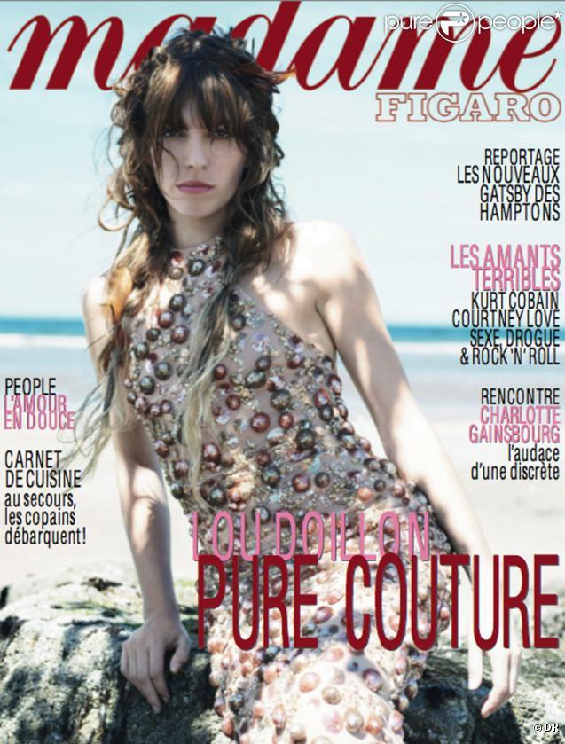 Lou Doillon en couverture du magazine Madame Figaro