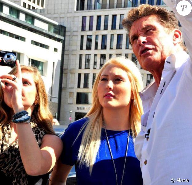 David Hasselhoff et ses filles Hayley Amber et Taylor Ann, en vacances à Berlin