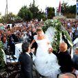 Le 25 août 2010, le prince Nikolaos de Grèce, 40 ans, et sa belle Tatiana Blatnik, 29 ans, se mariaient, au coucher de soleil, sur l'île grecque de Spetses.