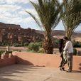 Matthias Pohl, le vainqueur de Secret Story 2, avec sa fiancee Gabriella en vacances a Ouarzazate au Maroc le 11 aout 2010