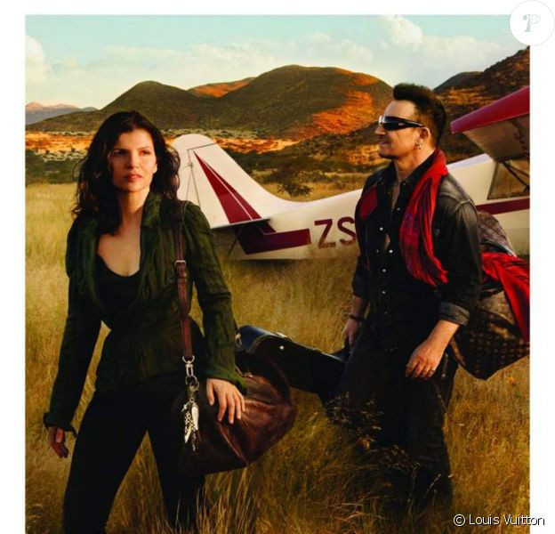 Bono et sa femme Ali Hewson dans la campagne Core Values de Louis Vuitton