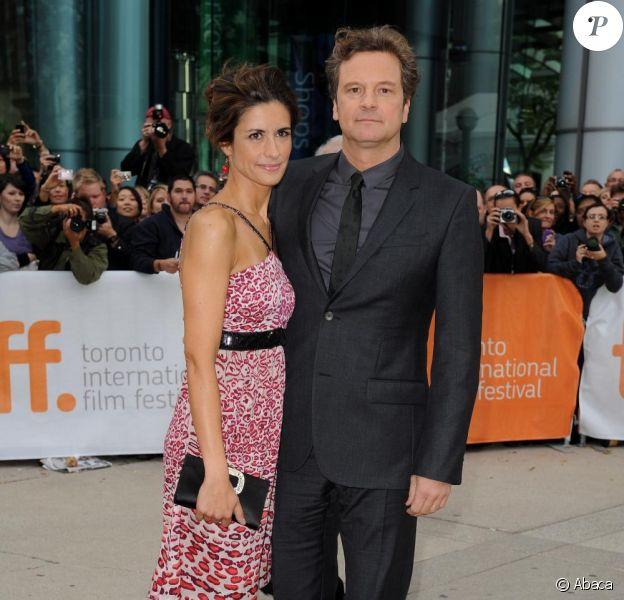 Colin Firth et sa femme Livia Giuggioli à la présentation du film The King's Speech, au Festival du film à Toronto