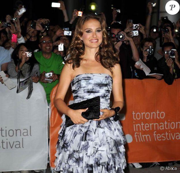 Natalie Portman à l'occasion de la présentation de Black Swan, dans le cadre du 35e Festival du Film de Toronto, le 13 septembre 2010.