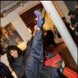 Mia Frye lors de la soirée de lancement de la nouvelle collection de chaussures de Nathalie Garcon dans sa boutique de la Galerie Vivienne et inauguration du pop up store créé pour l'occasion le 27 septembre 2010