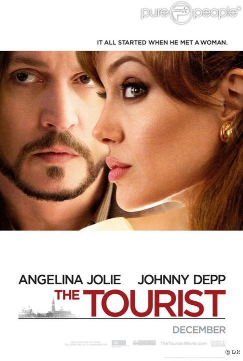 Johnny Depp et Angelina Jolie - Affiche de The Tourist