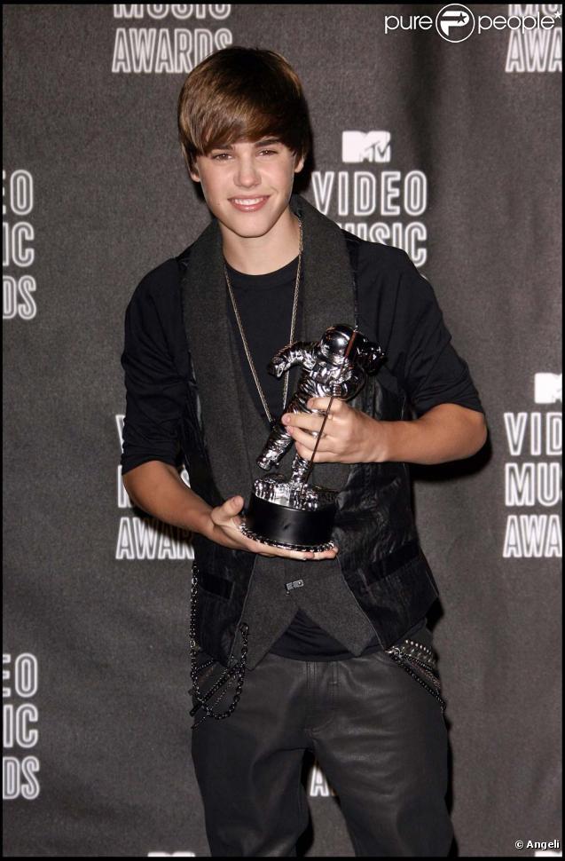 Justin Bieber aux MTV Video Music Awards, Los Angeles, le 12 septembre 2010