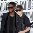 Justin Bieber et Usher aux MTV Video Music Awards, Los Angeles, le 12 septembre 2010