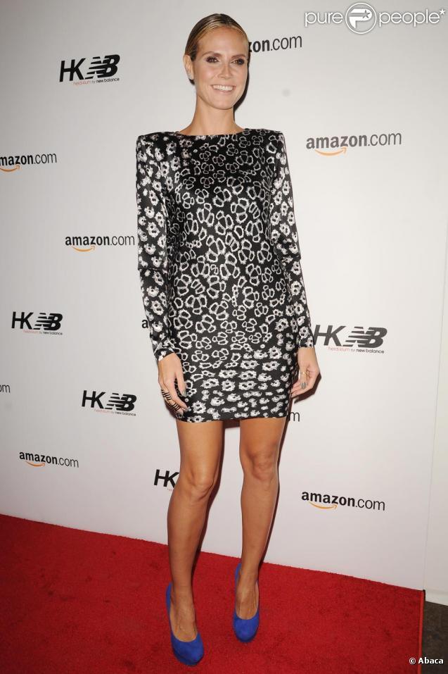 Heidi Klum lors du lancement de sa ligne pour New Balance à New York le 7/10/10