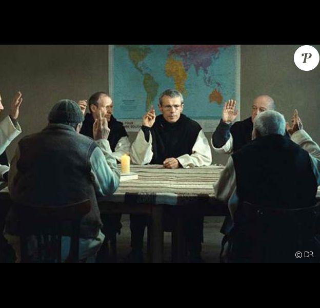 Des images de Des Hommes et des Dieux, quatre semaines consécutives en tête du box-office français, le 7 octobre 2010.