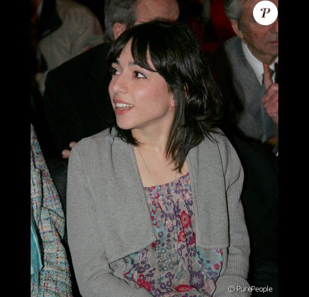 Sophie Mourousi à la messe souvenir à la mémoire de son père, le 7/04/08