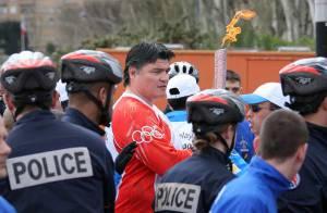 La flamme olympique embrase les champions français