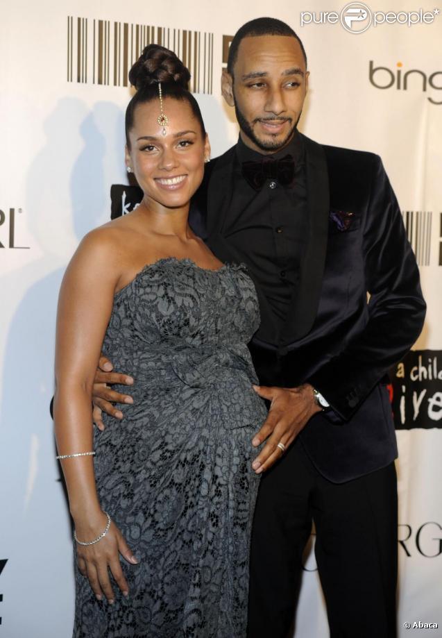 Alicia Keys et son époux, le rappeur Swizz Beatz.