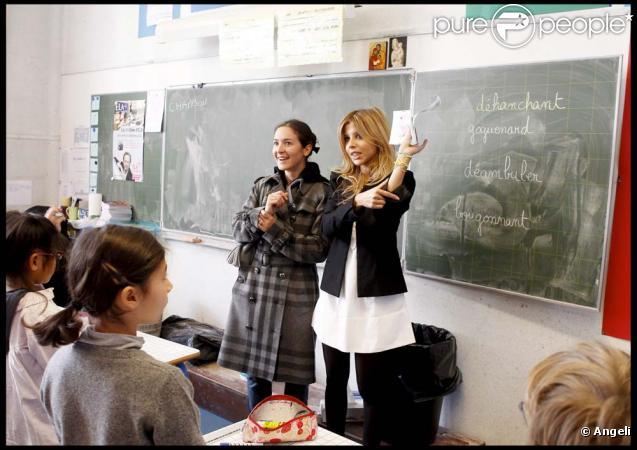 Lecture de la dictée d'ELA à l'école Blanche de Castille à Paris, le 18 octobre 2010 : Emmanuelle Boidron et Najoua Belyzel