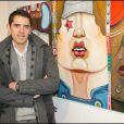 Nicolas Laugero Lasserre lors du vernissage de la galerie Caplain-Matignon à Paris le 21 octobre 2010