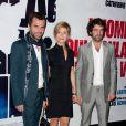 Eric Lartigau, Marina Foïs et Romain Duris, à l'occasion de l'avant-première de  L'homme qui voulait vivre sa vie , dans l'enceinte du Gaumont Marignan, sur les Champs-Elysées, à Paris, le 28 octobre 2010.