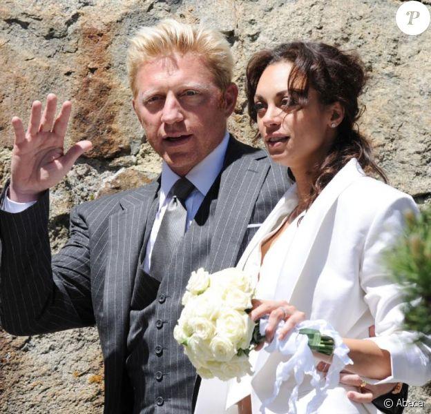 Boris Becker et sa femme Lilly lors de leur mariage en juin 2009