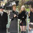 La comédienne Jill Clayburgh, qui souffrait depuis plus de 20 ans de leucémie lymphoïde chronique, est décédée le 5 novembre 2010... Photo : sur le tournage de  Running with scissors