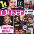 Le magazine  Closer  daté du samedi 13 novembre, actuellement en kiosques.