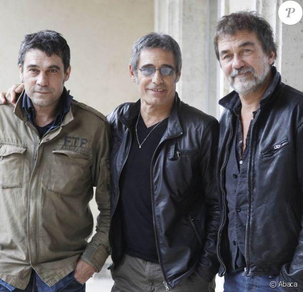 Philippe Guillard, Gérard Lanvin et Olivier Marchal lors de la 19e édition du Festival du Film de Sarlat, où ils ont présenté Le Fils à Jo, qui a remporté le Grand Prix, le 14 novembre 2010.