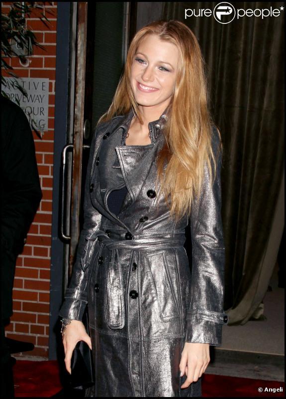 Blake Lively lors de la soirée Vogue à New York le 15 novembre 2010
