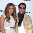 Jennifer Lopez et Marc Anthony dévoilent le lancement de deux lignes de  vêtements avec les magasins Kohl's. West Hollywood le 18 novembre 2010.