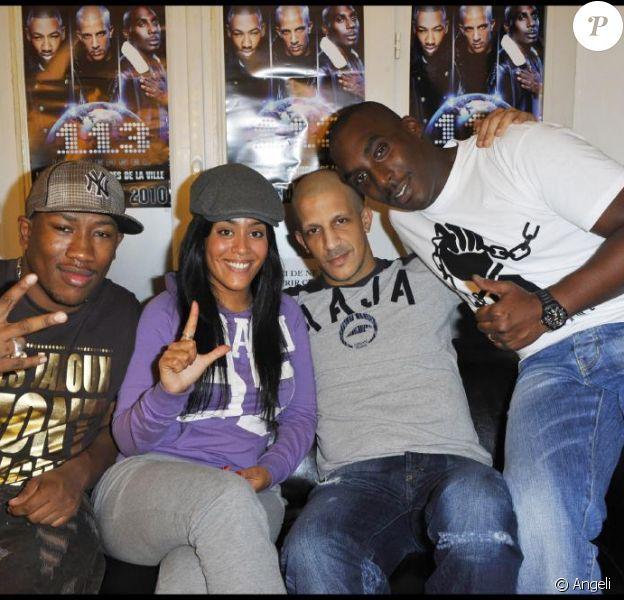 Rim'K, AP, Mokobé et Amel Bent fêtent les 10 ans de carrière du 113, au Bataclan le 21 novembre 2010