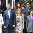 Letizia d'Espagne et Felipe d'Espagne en visite officielle au Pérou, le 24 novembre 2010.