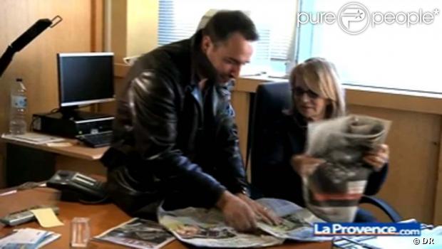 Jean Dujardin et Nicole Garcia, pour  La Provence , le 24 novembre 2010