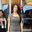 Kim Kardashian inaugure les toilettes publiques Charmin Restrooms, à Time Square, le 23 novembre 2010.