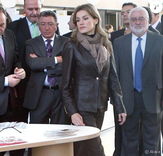 Letizia et Felipe d'Espagne à Logrono, Espagne, le 2 décembre 2010.