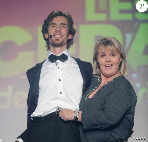 Valérie Damidot est venue parodier Qui veut épouser mon fils ?, lors de la cérémonie des Gérard de la Télévision, lundi 6 décembre au Théâtre Michel, à Paris.
