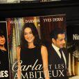 Le livre sur Carla Bruni-Sarkozy écrit par Michaël Darmon et Yves Derai.