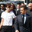 Carla Bruni-Sarkozy et son mari.