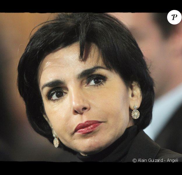 Rachida Dati lors du Conseil National de l'UMP, à la Porte de Versailles, le 11 décembre 2010.