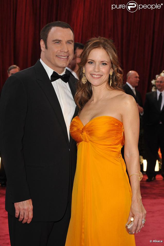 John Travolta et Kelly Preston aux Oscars en 2008
