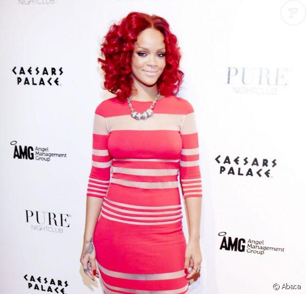 Rihanna au nouvel an du Pure à Las Vegas le 31 décembre 2010