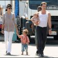"""Matthew McConaughey, Camila Alves et leurs enfants Levi et Vida"""