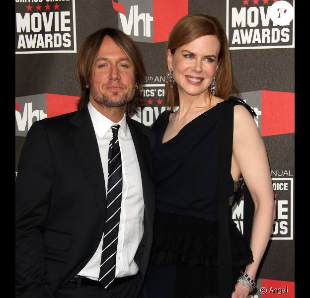 Nicole Kidman et Keith Urban aux 16ème Critics Choice Movie Awards, le 14 janvier 2011.