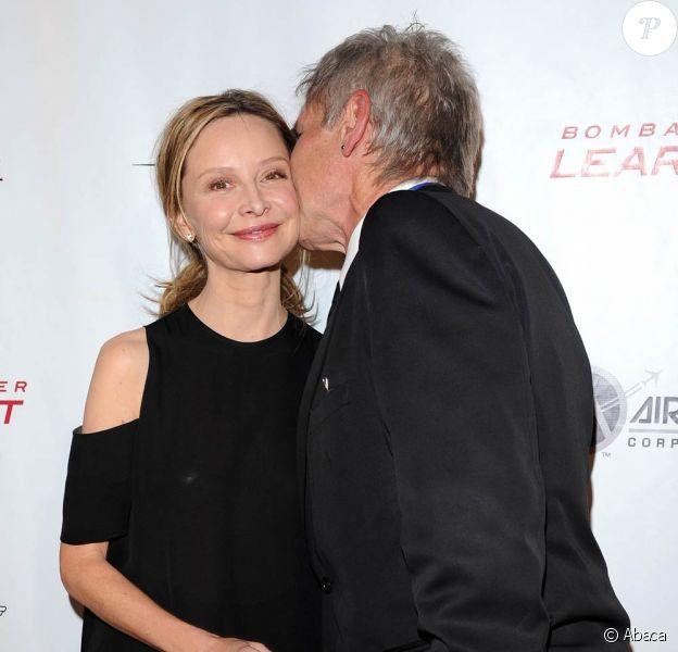 Harrison Ford et Calista Flockhart lors de la soirée des Légendes vivantes de l'aviation au Beverly Hilton à Los Angeles le 21 janvier 2011