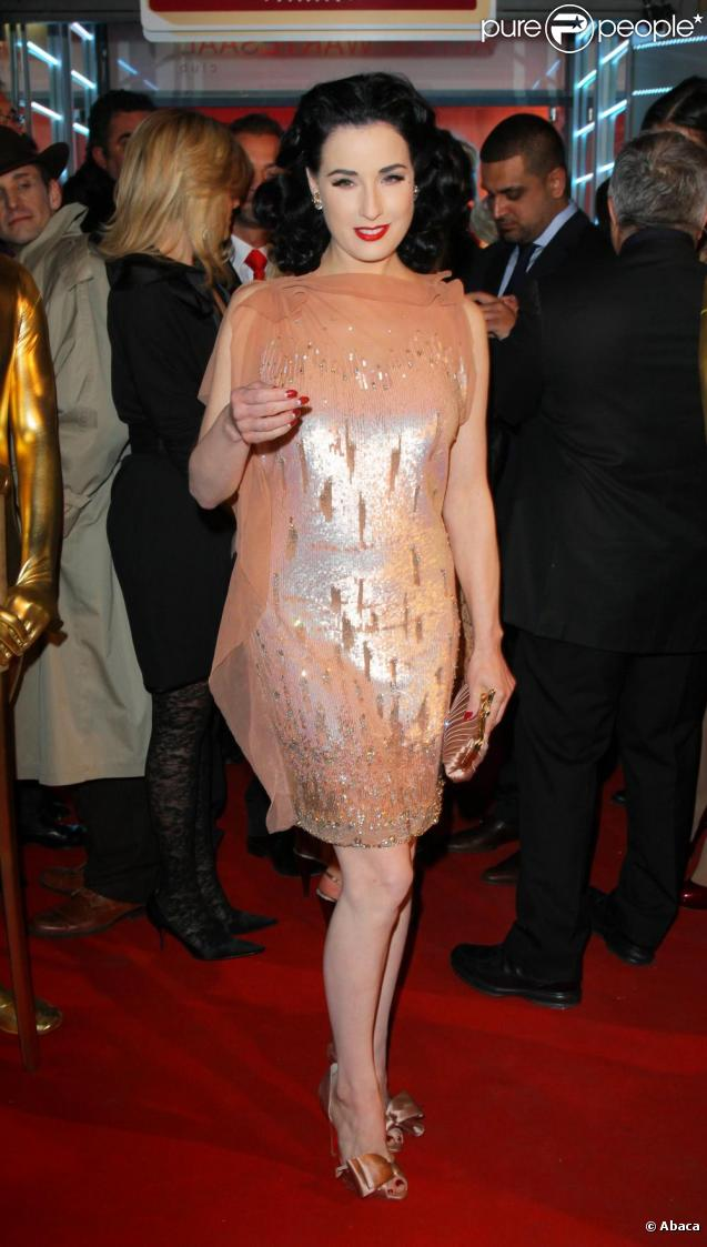 Dita von Teese assiste à la soirée Lambertz Monday Night à Cologne, le 31 janvier 2011.