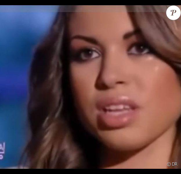 Ruby, l'escort-girl présumée de Berlusconi, lors de son passage sur une chaîne italienne, le 20 janvier 2011.