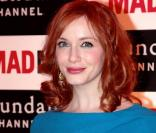 La sublime Christina Hendricks à l'Hôtel Royal Monceau, à Paris, le 8 février 2011.