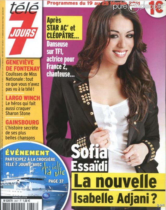 Sofia Essaïdi en couverture de Télé 7 jours, en kiosques le 14 février 2011