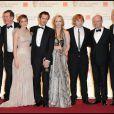 L'équipe de Harry Potter, dont Emma Watson, J.K. Rowling et Rupert Grint, lors des BAFTA awards à Londres le 13 février 2011