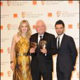 Rosamund Pike, David Seidler et Dominic Cooper lors des BAFTA awards à Londres le 13 février 2011