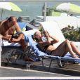 Kelsey Grammer et sa future femme Katye Walsh, en vacances à Miami, le 17 février 2011