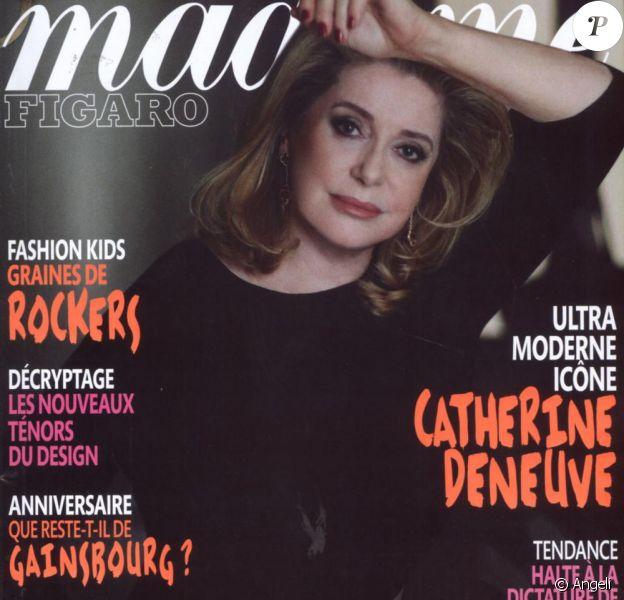 Catherine Deneuve en couverture du magazine Madame Figaro du 26 février 2011