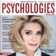 Catherine Deneuve en couverture du magazine Psychologies de mars 2011